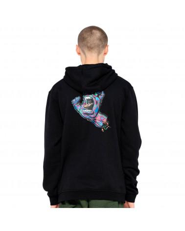 Santa Cruz Sweatshirt Growth Hand Hood Black