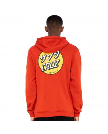 Santa Cruz Sweatshirt Mixed Up Dot Hood Ketchup