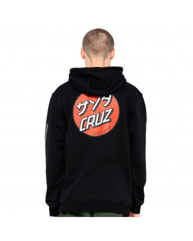 Santa Cruz Sweatshirt Mixed Up Dot Hood Black