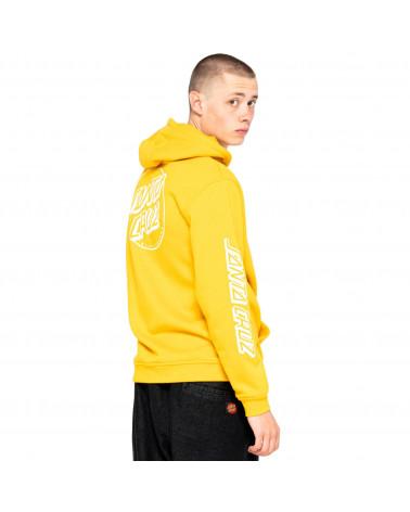 Santa Cruz Sweatshirt Opus Dot Stripe Hood Mustard