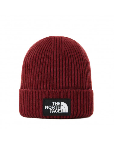 The North Face Logo Box Cuff Beanie  Brick House Red
