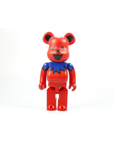 Be@rbrick 400% - Grateful Dead Dancing Bear Red