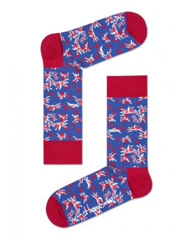 Happy Socks - Calze Aloha Sock - Blu
