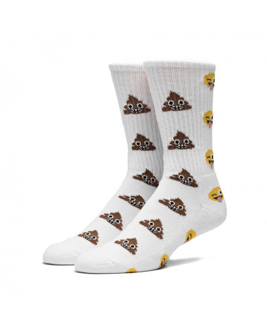 HUF - Calze Shit Head Crew Sock - White