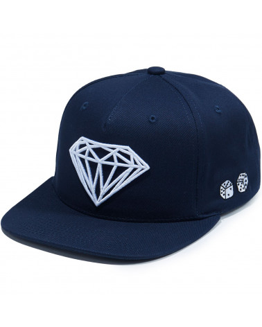 Diamond Supply Co. - Cappello Brilliant Snapback - Blu