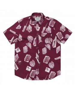 Carhartt Wip - Flammable Shirt - Print Varnish White