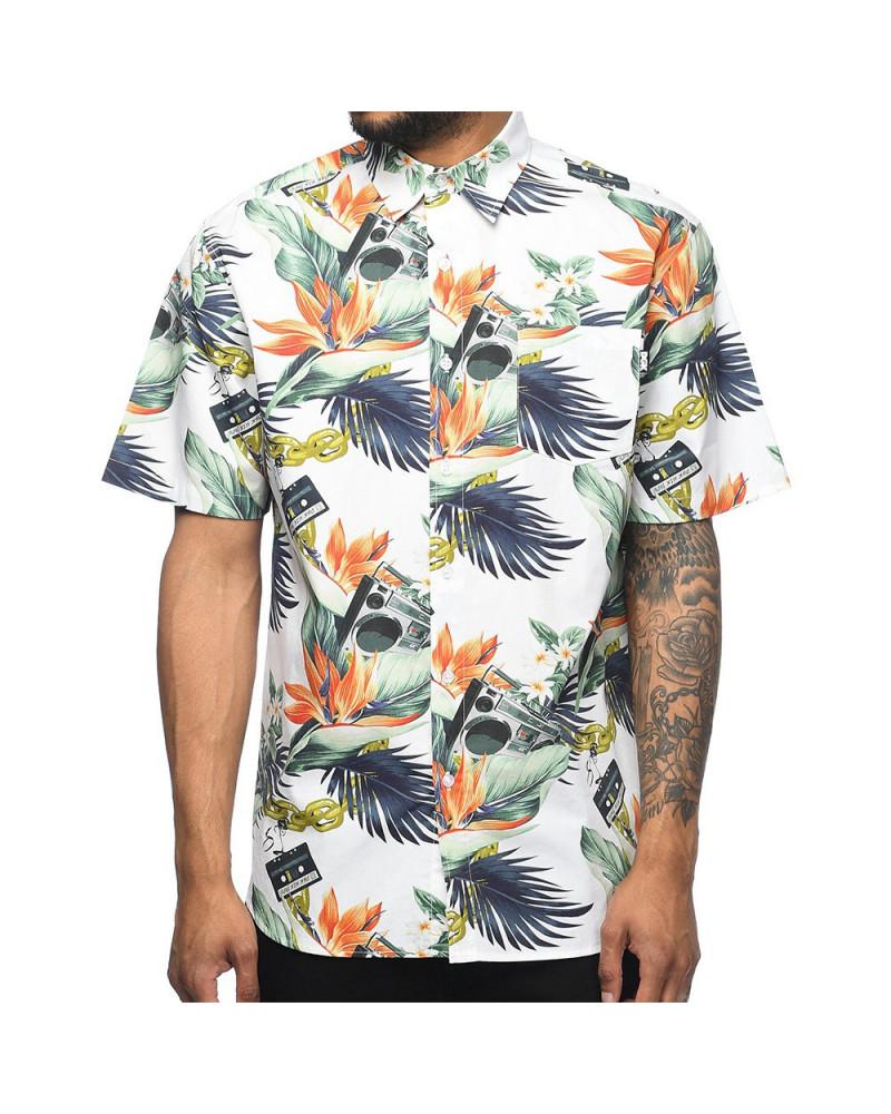 DGK - Camicia Mixtape Floral Button Up Shirt - White
