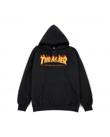 Thrasher Magazine - Felpe Flame Logo Hood - Black