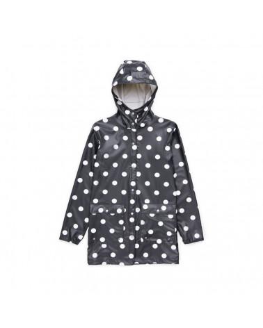 Herschel - Forecast Parca Womn' s Jacket - Black/Polca Dots