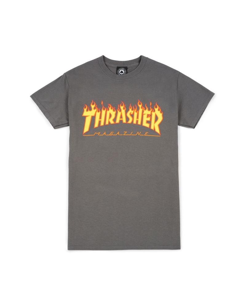 Thrasher - T-Shirt Flame - Chorcoal