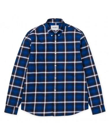Carhartt - Camicia Lamont Shirt - Lamont Check/Blue Deep