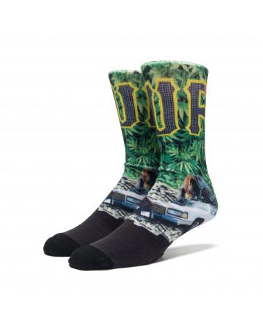 HUF - Big Cats Crew Sock - Green