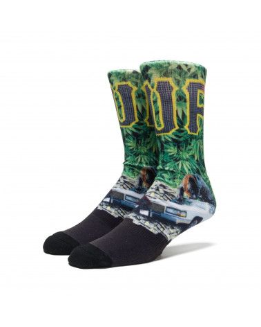 HUF - Calze Big Cats Crew Sock - Green