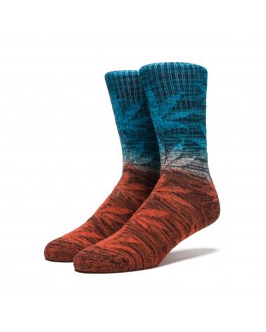 HUF - Calze Dippin Plantlife Crew Sock - Sunset