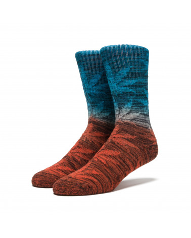 HUF - Dippin Plantlife Crew Sock - Sunset