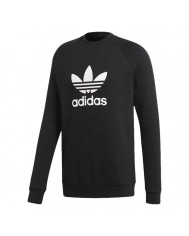 Adidas Original - Felpa Trefoil Crew - Black/White
