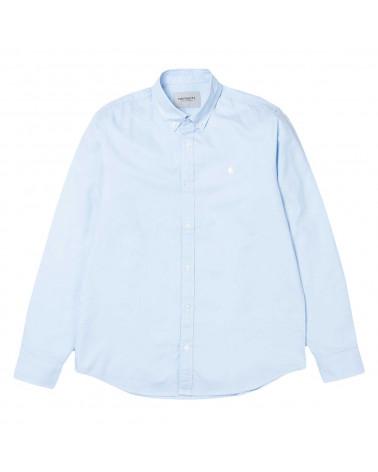 Camicia Carhartt Wip Camicia Lancaster Logo Shirt Aquamarine/Wax