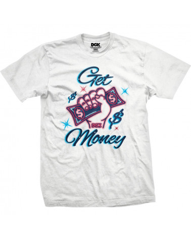 DGK - T-Shirt Get Money - White