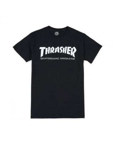 magliette Thrasher - T-Shirt Skatemag - Black/White