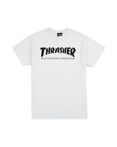 magliette Thrasher - T-Shirt Skatemag - White/Black