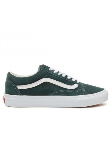 Vans - Old Skool - (Pig Suede) Darkest Spruce/True White