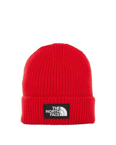 The North Face - Beanie Logo Box Cuff - Red 9f9b34ffdc3a