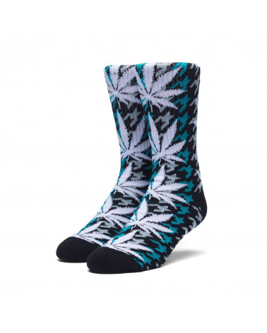 HUF - Calze Houndstoolh PL Crew Socks - Tropical Green