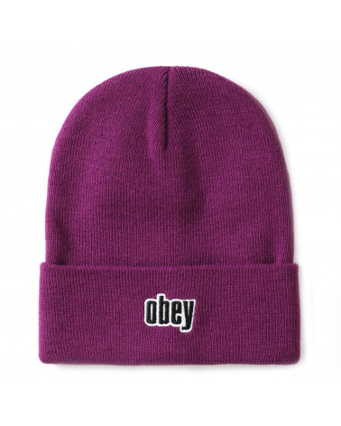 Obey - Cappellino Highland Beanie - Plum
