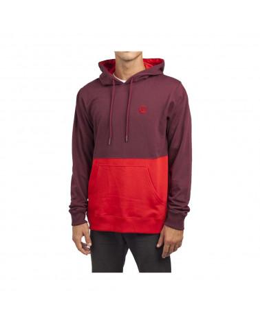 Neff - Sweatshirt Split Hoodie - Burgundy/Red