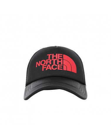 The North Face Logo Trucker - Black/Red